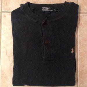 Mens Ralph Lauren blue long sleeve cotton shirt XL